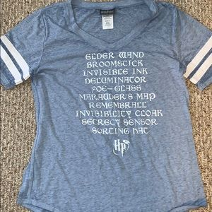 Harry Potter Blue Burnout T